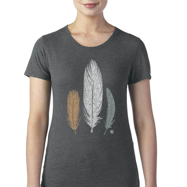 3 Feathers women's T Shirt heather gray