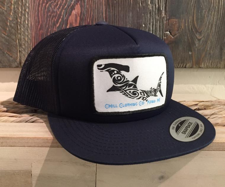 Hammerhead Shark patch Trucker Hat.