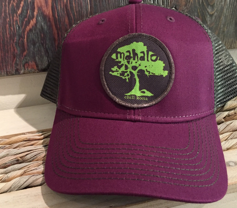Mahalo Koa Tree Green / Velvet Trucker Hat