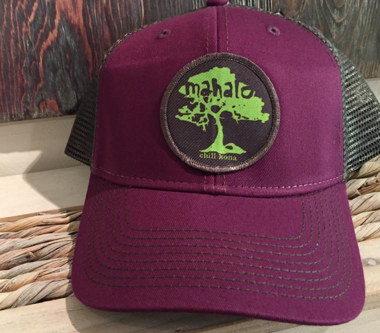Mahalo Koa Tree Green / Velvet Trucker Hat