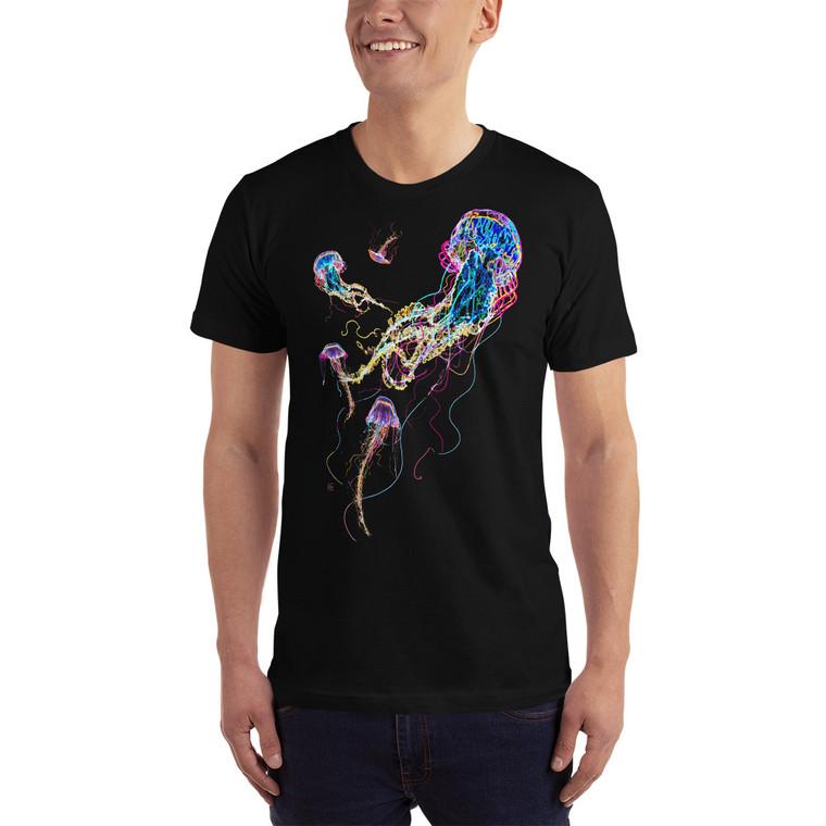 Jellyfish Glow men's t shirt