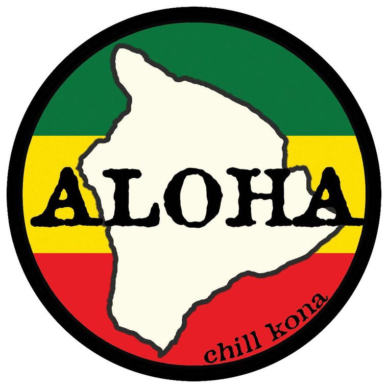 Aloha Chill Big Island of Hawaii Sticker