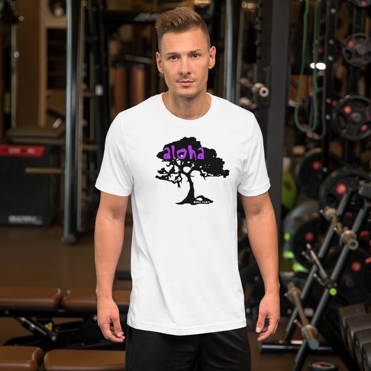 Aloha Koa Tree T Shirt Model