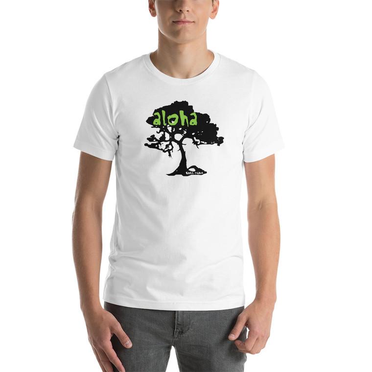 Aloha Koa Green T Shirt white