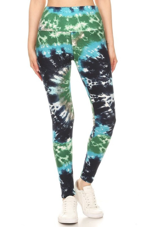 Tie dye print leggings