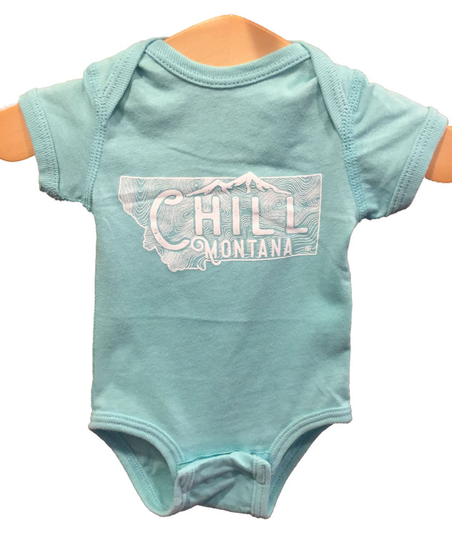 Chill Montana Onesie Turquoise