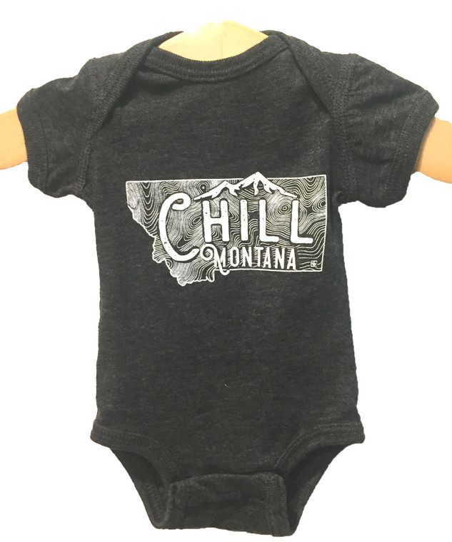 Chill Montana Onesie Black Heather
