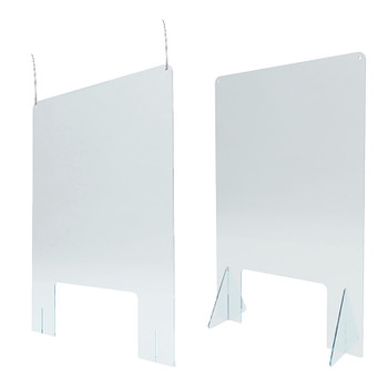 SUNLITE SNEEZE GUARD SUNLT 24Wx36H CLEAR PLEXI COUNTER TOP OR HANGING
