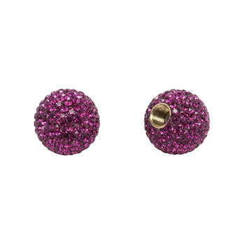 CRUISER CANDY VALVE CAPS C-CANDY BLING CRYSTAL FUCSIA