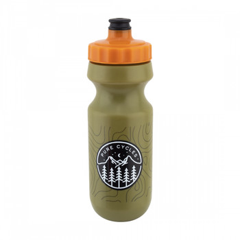 PURE CYCLES BOTTLE PURE 600cc MTN-ICON OLIVE w/PRESSURE VALVE