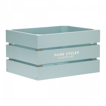 PURE CYCLES BASKET PURE RR WOOD RACTOP CITY CRATE 12.5x9.75x7.25 SF-GN