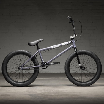 """Kink Launch 2022 Matte Storm Grey 20"""" BMX Bicycle Side View"""