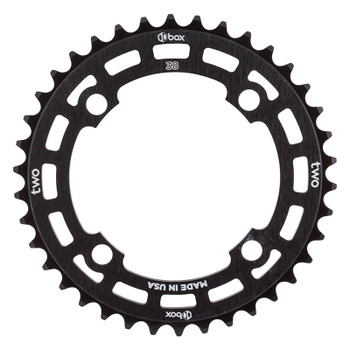 BOX COMPONENTS CHAINRING BOX TWO BMX 104mm 38T 4B BK