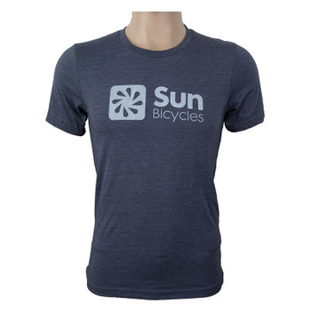 SUN BICYCLES CLOTHING T-SHIRT SUN LOGO UNISEX MD HEATHER NAVY