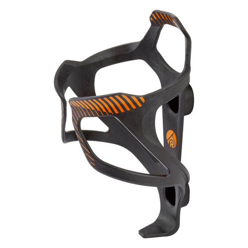 ORIGIN8 BOTTLE CAGE OR8 CARBON COMPOSITE KLUTCH BK/OR