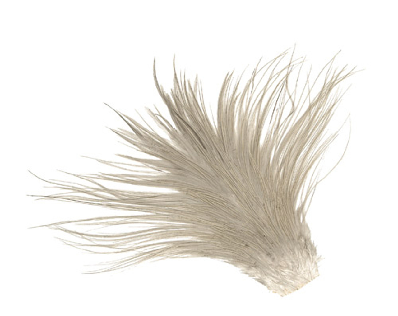DRY FLY Hackle size 8 to 16 1//4 METZ COMMERCIAL Saddle CREAM//WHITE