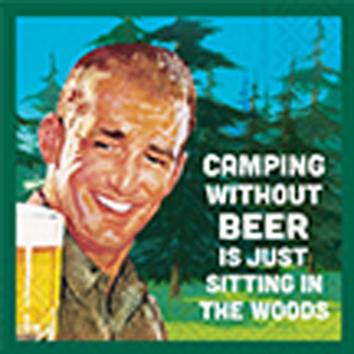 Camping Without Beer Napkin