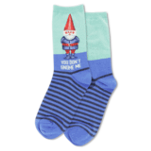 Hot Sox Womens You Dont Gnome Me Sock