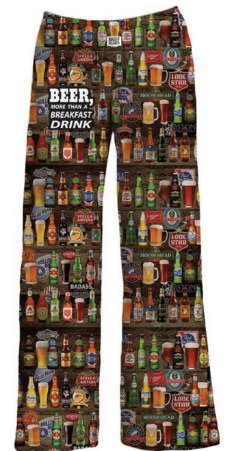 Brief Insanity Beer Not Just For Breakfast Lounge Pant
