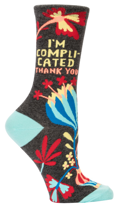I'm Complicated Women's Crew Sock