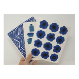 Compostable Dishcloth - Blue Flower
