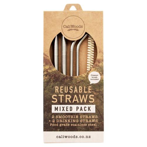 Reusable Metal Straws Mixed Pack