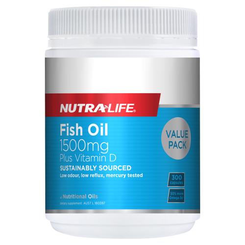 Omega 3 Fish Oil 1500mg + Vitamin D