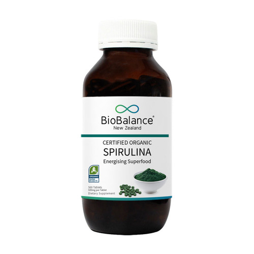 Certified Organic Spirulina Tablets 500mg