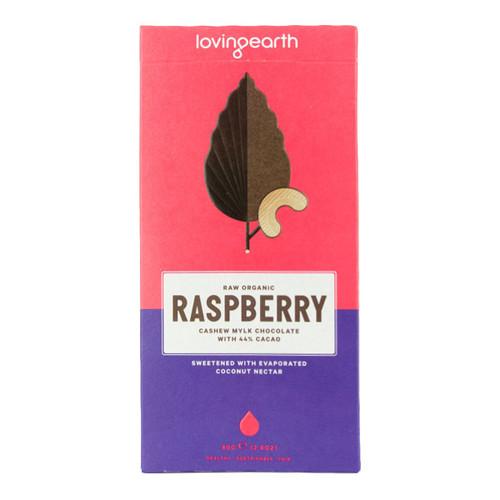 Raw Organic Raspberry Cashew Mylk Chocolate