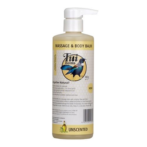 Massage & Body Balm Unscented Pump Bottle