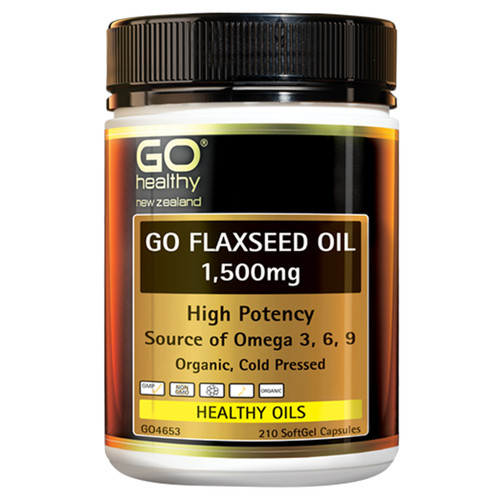 Go Flaxseed Oil 1,500mg - High Potency