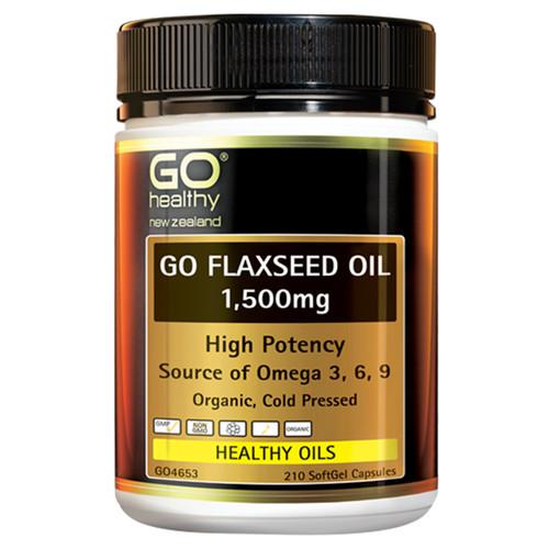 Go Flaxseed Oil 1,500mg - High Potency