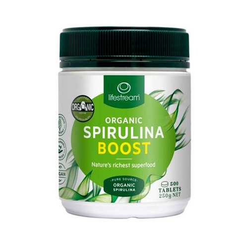 Organic Spirulina 500mg Tablets