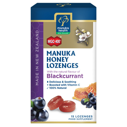 Manuka Honey Lozenges Blackcurrant