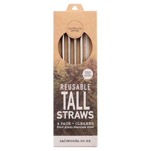 Reusable Tall Metal Straws
