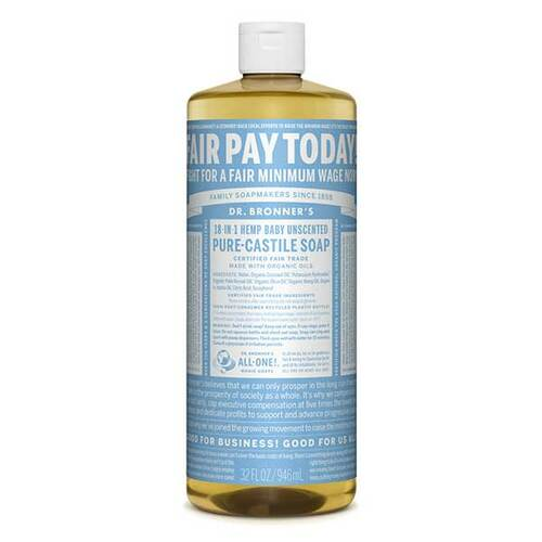 18-in-1 Hemp Baby Unscented Liquid Soap
