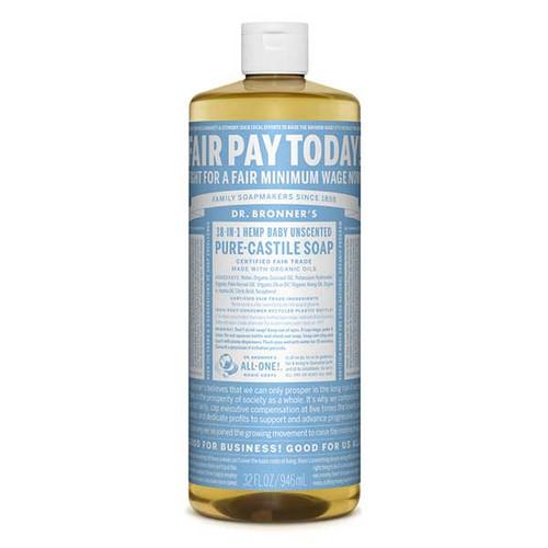 18-in-1 Hemp Baby Unscented Liquid Soap