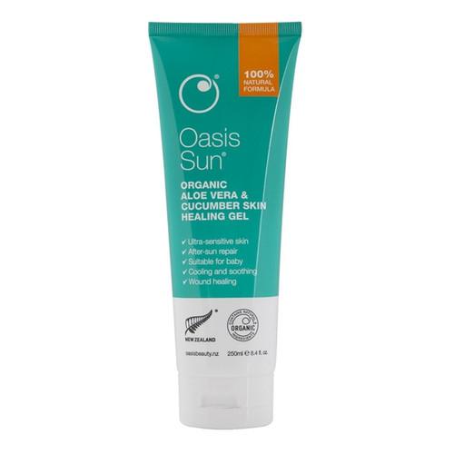 Organic Aloe Vera & Cucumber Skin Healing Gel