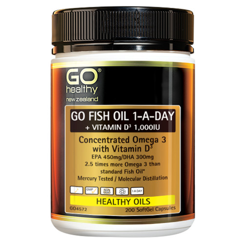 Go Fish Oil 1-A-Day + Vitamin D3 1,000IU