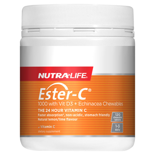 Ester C with Vitamin D3 & Echinacea Chewables
