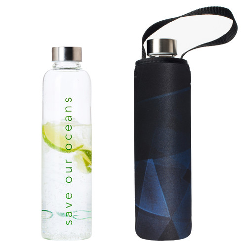 Glass is Greener Bottle + Carry Cover - Prism Print