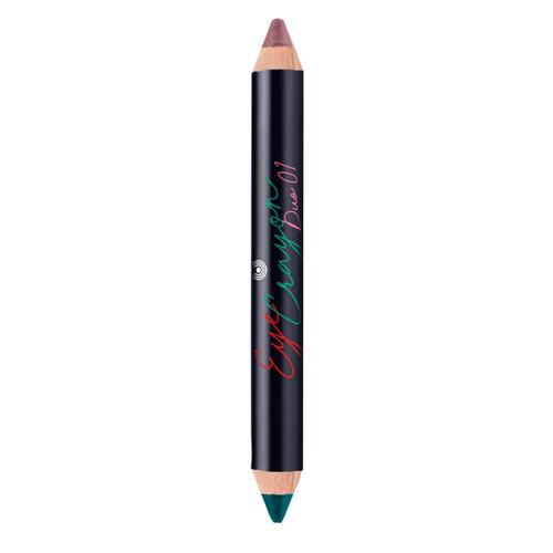 Eye Crayon Duo 01 Teal & Copper