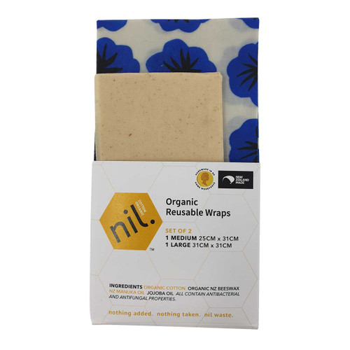 Beeswax Food Wraps - Blue Flower