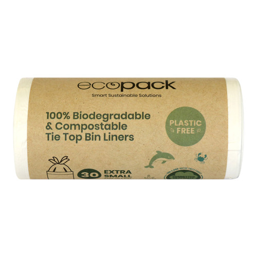 Compostable & Biodegradable Bin Liners with Tie Tops