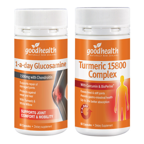 Turmeric 15800 Complex & Glucosamine 1-A-Day Value Pack