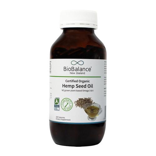 Organic Hemp Seed Oil Capsules