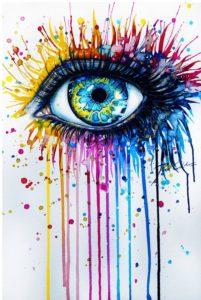 California, vibrant colors, tears, crying, abuse, healing victimization
