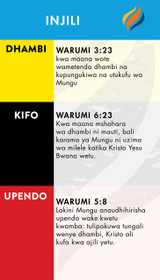 TTR Verse Card - Swahili Edition (Front)
