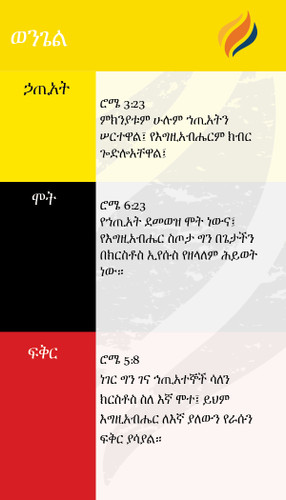 TTR Verse Card - Amharic Edition
