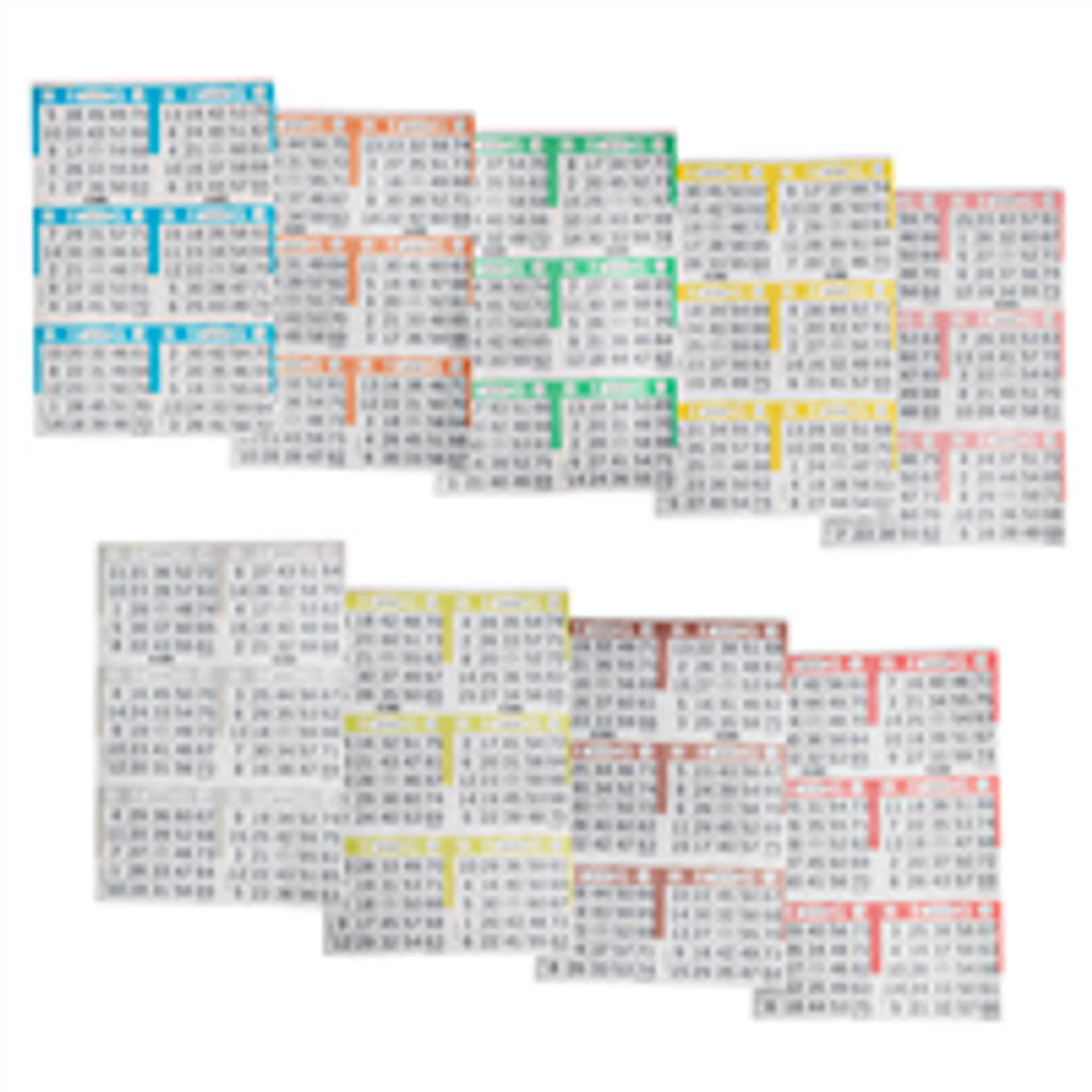 Bingo Books: 6on 9ups - 100 bo